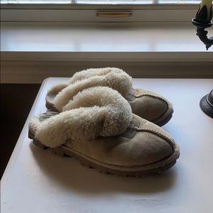 Beige Ugg Coquette Slippers